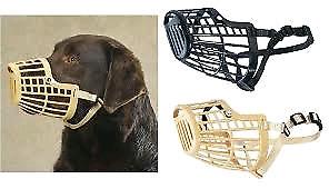 Large Black Basket Muzzle
