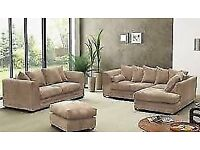 LUXURY KINGSTON JUMBO CORD CORNER SOFA - 1 YEAR WARRANTY + UK DELIVERY!