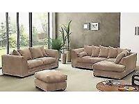 Kingston Jumbo Cord Corner Sofa **1YEAR WARRANTY**