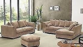 KINGSTON JUMBO CORD CORNER SOFA **1 YEAR WARRANTY**