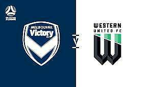 ABSOLUTE BARGAIN Western Utd v Melb Victory @ GMHBA Std Sunday 8 Dec