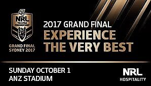 2017 NRL GRAND FINAL - 2 TICKETS - Silver Level