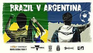 2 X Tickets for Argentina Vs Brazil $440 Page Belconnen Area Preview
