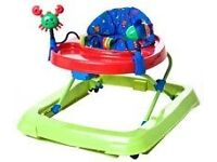 Baby walker with toy tray