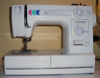 Janome 344 LX tuned up ready to sew.