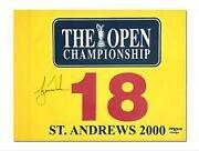 Tiger Woods Autographed Pin Flag