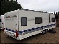 Fixed bed caravan wanted