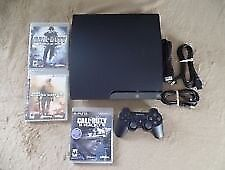 PS3 slim 320gb with 10 games and controller plus accessories