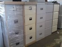 Grey 4 Drawer Metal Filing Storage Cabinet/ FREE DELIVERY
