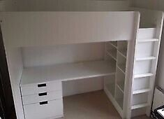 IKEA Stuva / Fritids Loft Bunk Bed with Desk and 3 Drawers