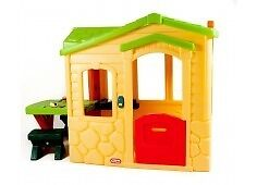Little Tikes Picnic on the Patio Playhouse Natural Brand new, unopened