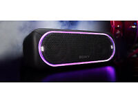 Sony SRS-XB30 Wireless Bluetooth/USB/Aux Speaker, Extra Bass, Waterproof, 24hr Battery, Party Lights