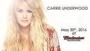 3 tickets to Carrie Underwood at Budweiser Gardens