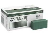 Dried flower Oasis bricks box of 20 unused 3 boxes available .£10 per box