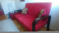 Red Accent couch