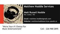 Matthew Hoddle Services - Professional Disc Jockey Service