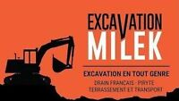 **SOUMISSION GRATUITE** EXCAVATION MILEK