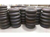 PART WORN motorcycle tyres