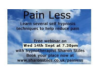 Free pain reduction webinar - rescheduled for 14th Sept