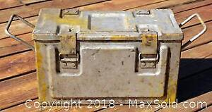 "WWII Military Ammo Box - Stamped ""CSW/C 1945 No. 55 MK1"""