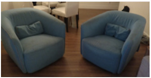 Mobler love seat chairs