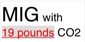MIG welder + 19 pounds CO2