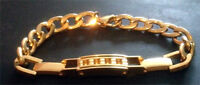 Classic 18K gold plated, Men's Figaro Chain (220mm Braclet)