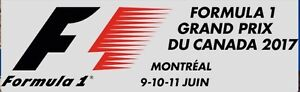 Montreal F1 Grandstand 11 - 2 tickets - Friday June 9, 2017