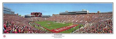 Florida State Seminoles 34 YARD LINE Doak S. Campbell Stadium Panoramic POSTER - Florida State Doak Campbell Stadium