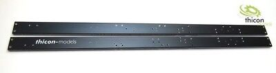 1:14 Rahmenprofile schwarz (R+L) für thicon 6x6 LKW 458mm Thicon - thi10012