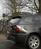 Bike Rack (tow bar mounted - very solid & no car contact - up to 4 bikes) & Trailer Board