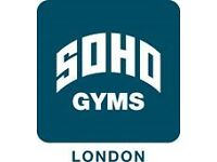 Soho Gyms are looking for full time Fitness Instructors.