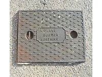 ****OLD CAST IRON MAN HOLE COVERS****