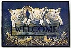 Piglet doormat, Holstein Door Mat, Welcome door-mat, pigs, cows Oakville / Halton Region Toronto (GTA) image 1