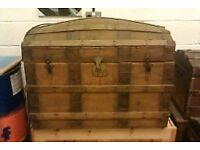 vintage sailors cabin trunk