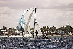 Red Witch yacht for sale. Ideal sail trainer.