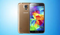 NEW OR USED IN BOX UNLOCKED SAMSUNG GALAXY S5 BLUE, BLACK, GOLD