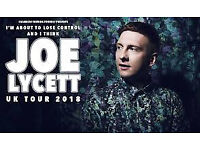 x2 Tickets for Joe Lycett on Wednesday 6th June @ Manchester Palace Theatre. Comedy. Comedian.