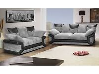 grey/black cord 2+3 sofas delivery avalible