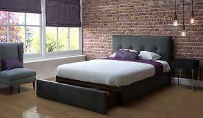 leather look king size bed frame Campsie Canterbury Area Preview