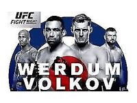 UNDER FACE VALUE - UFC O2 London tickets - Great Seat!