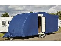 Caravan storage and towing cover for a 19ft