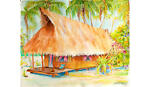 Coconut Palm Hut