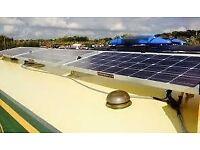 narrowboat 60' canal narrow boat solar barge