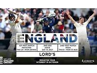 England v Pakistan Tickets - Lords - Day 1