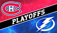 MONTREAL VS TAMPA BAY REDS WHITES TICKETS GAME 5 SATURDAY MAY 9