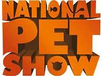 2 tickets for the national pet show