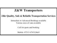 24hr Quality & Reliable Man and Van, Removals, Van and Driver Hire or General Transportation