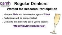 Regular Drinkers Wanted for Research Study (Male, 25-40)