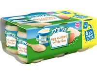 HEINZE 6PK DESERTS BABY FOOD IN ALL FLAVOURS AVAILABLE £2.35 EACH (WHOLESALE ONLY)